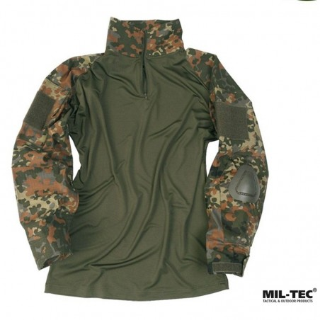 CAMISA TACTICA CON CODERAS MIL-TEC WARRIOR FLECKTARN
