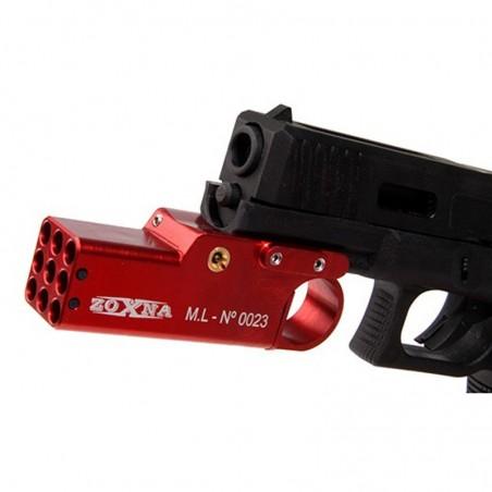 Zoxna mini lanzagrandas para pistola rojo