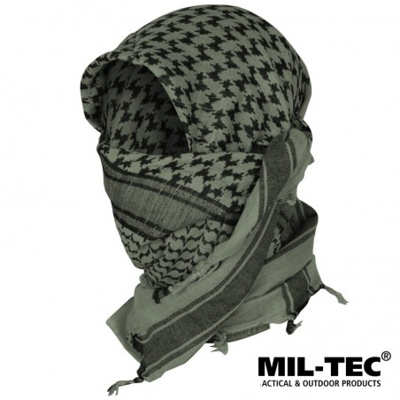 Mil-tec Shemagh Verde OD y Negro